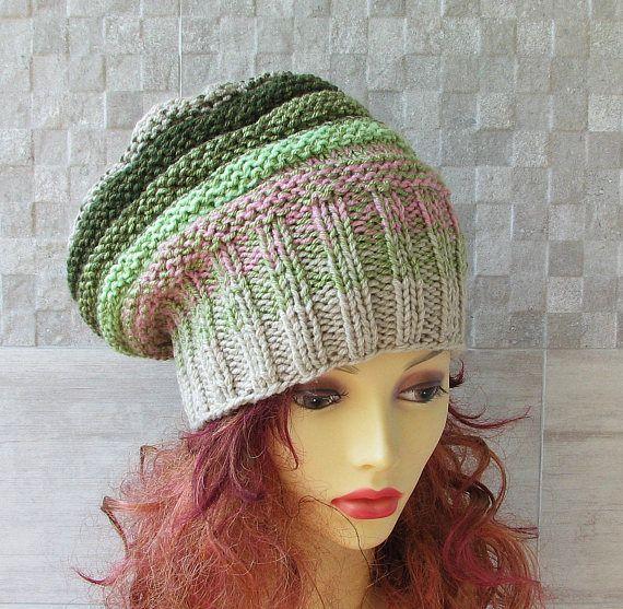 Womens Knit Hat Slouchy Hat Slouchy Women Hat  Slouch Beanie