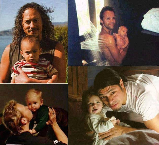 I #Metallica con i propri figli. Baby Rock!