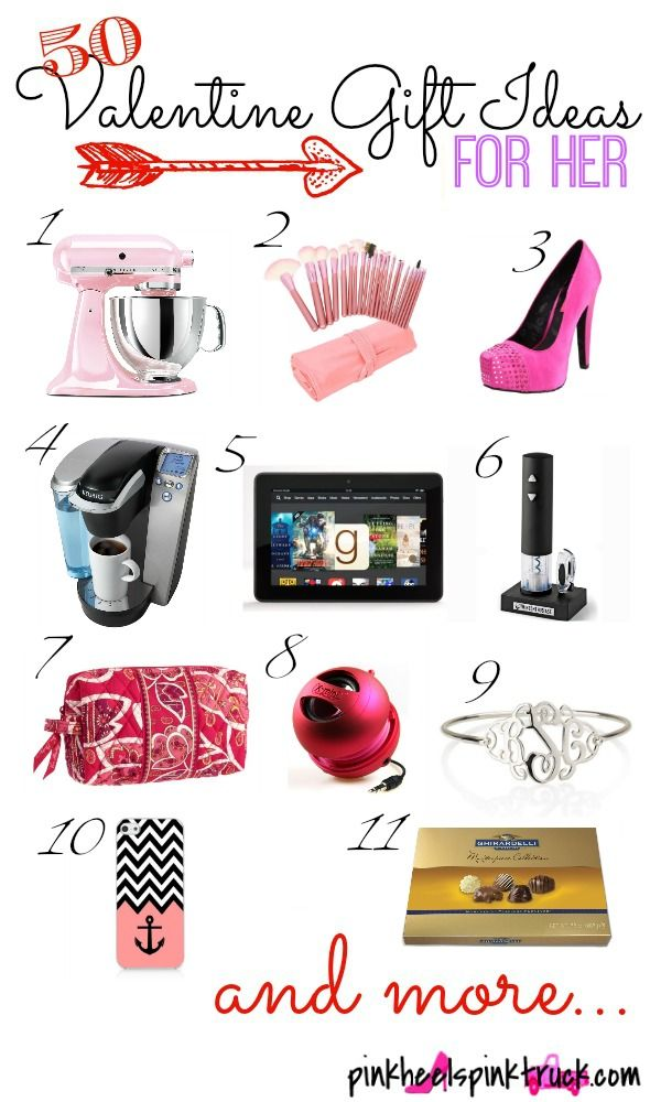 50 Valentine Gift Ideas For Her Holiday Valentines Pinterest