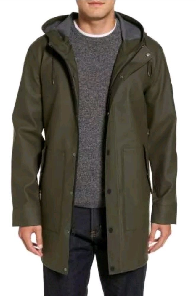 bf0b887fe740 UGG MENS HOODED WEATHER-READY RAIN JACKET OLIVE GREEN WATERPROOF XL 1018777   fashion  clothing  shoes  accessories  mensclothing  coatsjackets (ebay  link)