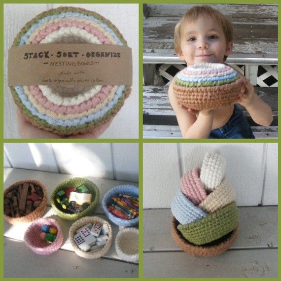 Made to Order - Organic Nesting, Sorting, Stacking Bowls for the Nursery