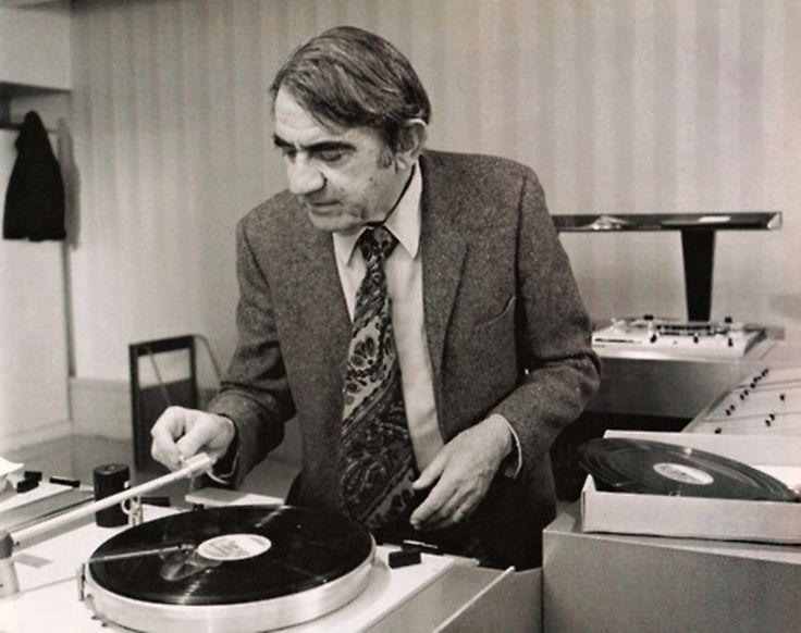 """vinylespassion:  """"Pierre Schaeffer (ingénieur, chercheur, théoricien, compositeur et écrivain français.)  """""""