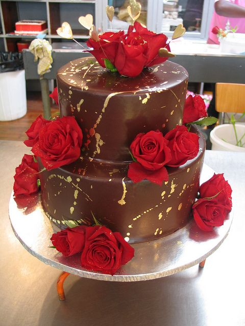 2 Tier Wicked Chocolate Cake Iced In Chocolate Ganache