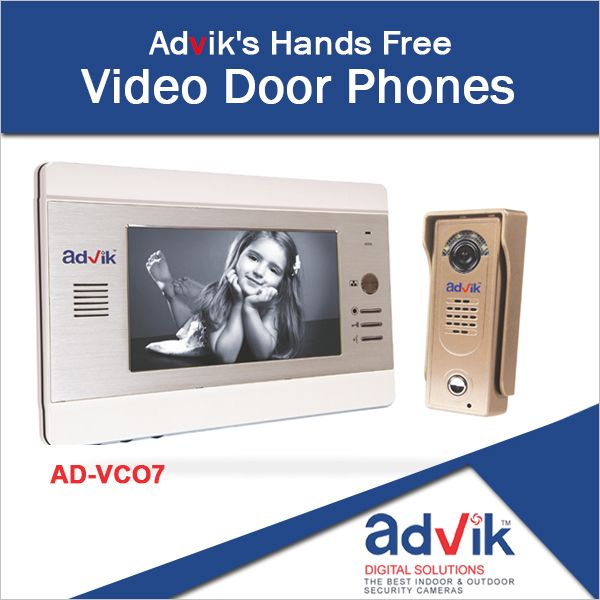 Enjoy Hands Free Conversations with Advik's stylish #VideoDoorPhones and Champagne colored outdoor unit. Click here for more information: http://advik.net/pro…/video-door-phone/video-door-phone.html