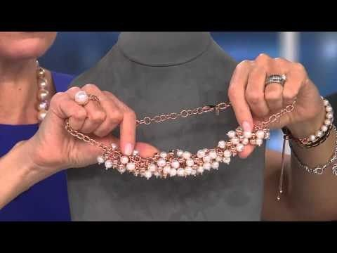 """Honora Cultured Pearl Polished Bead 18"""" Bronze Necklace with Nancy Hornback"""