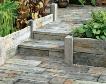 Les 25 meilleures id es concernant dalle bois sur for Bordure pour escalier exterieur