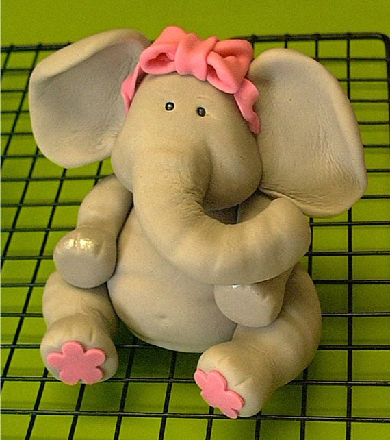 Edible Elephant Cake Decorations : Pin Fondant Elephant Cake on Pinterest