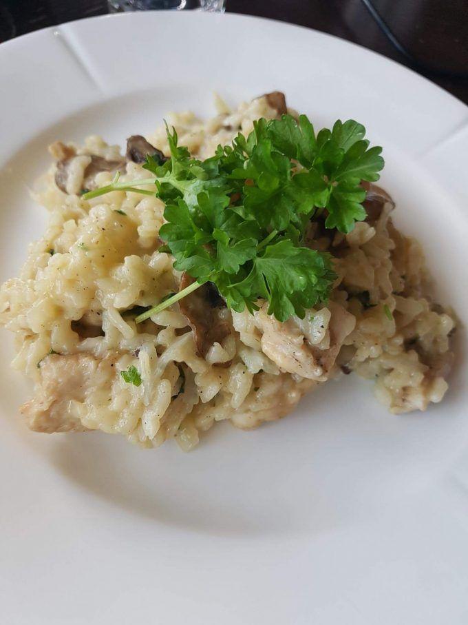 Risotto med champignon og kylling
