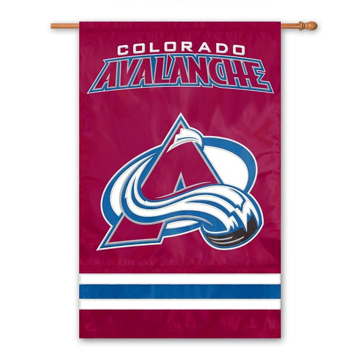 Colorado Avalanche Banner Flag, Multicolor