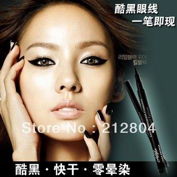7409 excelente impermeável captura não tonto preto impermeável delineador líquido maquiagem mulheres alishoppbrasil
