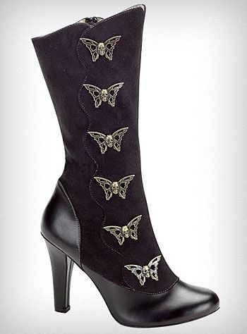 I would love to wear these beautiful boots. Those butterfly buckles are so lady like.