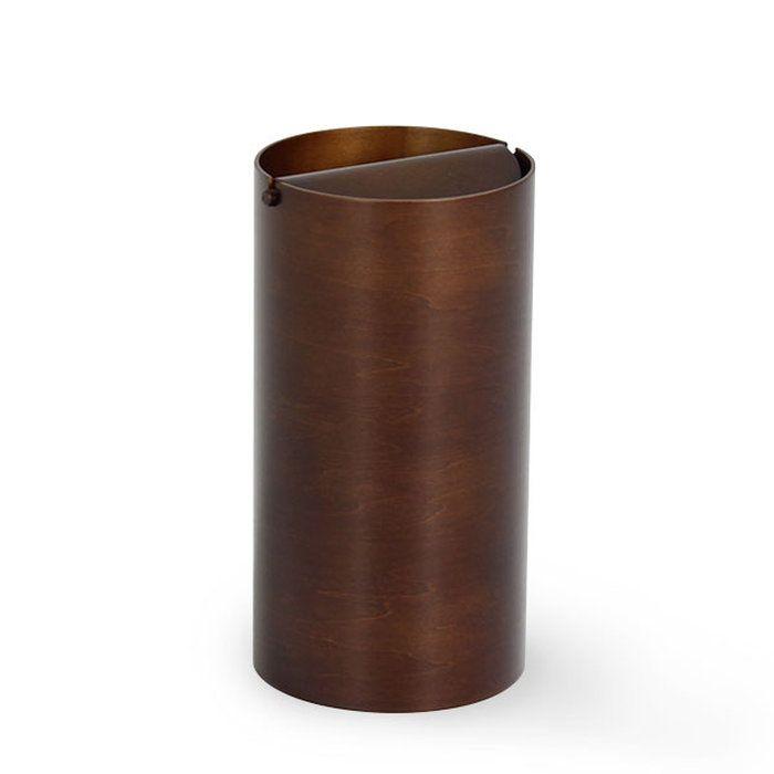 ゴミ箱ふた付きふた付きゴミ箱サイトーウッド木製木DH970Aふたつきカフェおしゃれごみ箱ダストボックスダークブラウン回転蓋ゴミ箱北欧ウッド木目木蓋付きゴミ箱屑入れ屑箱くずいれプライウッドリビング書斎ナチュラルホテル寝室SAITOWOOD