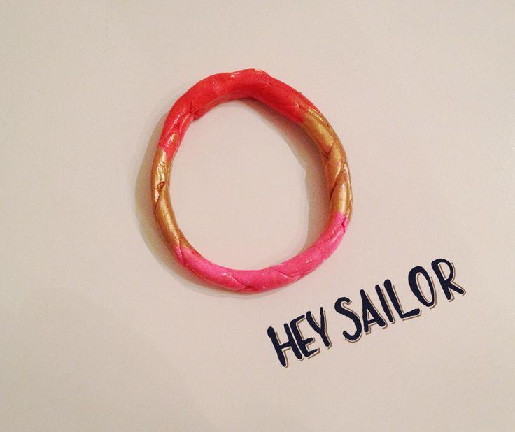 Modern clay bracelet / Bangle bracelet by Calliopesboutique on Etsy