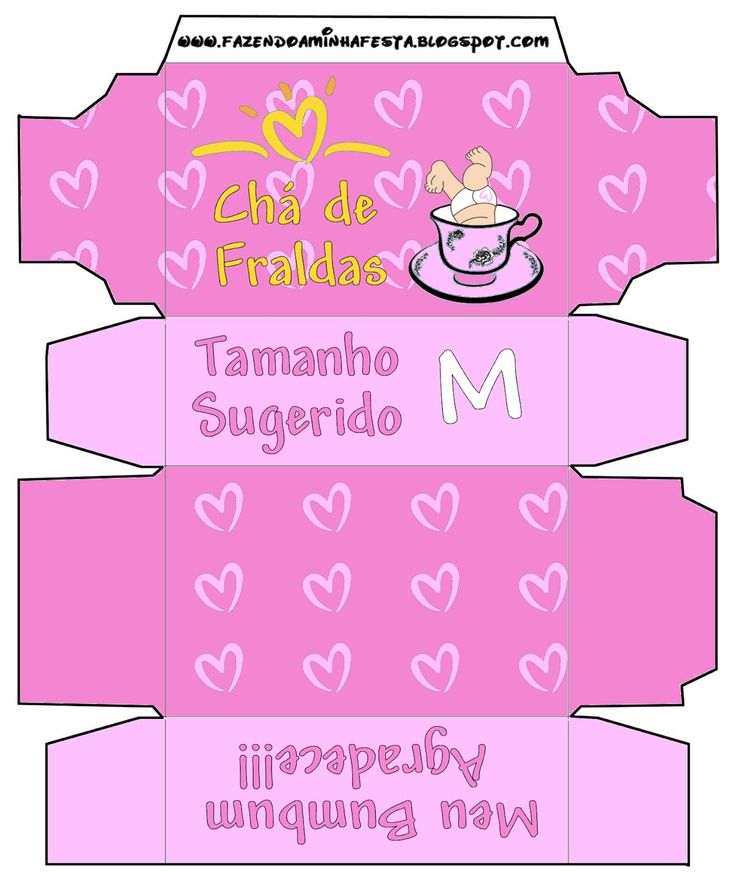 Fazendo a Minha Festa - Moldes: Convite Caixa Pampers para Chá de Fraldas!