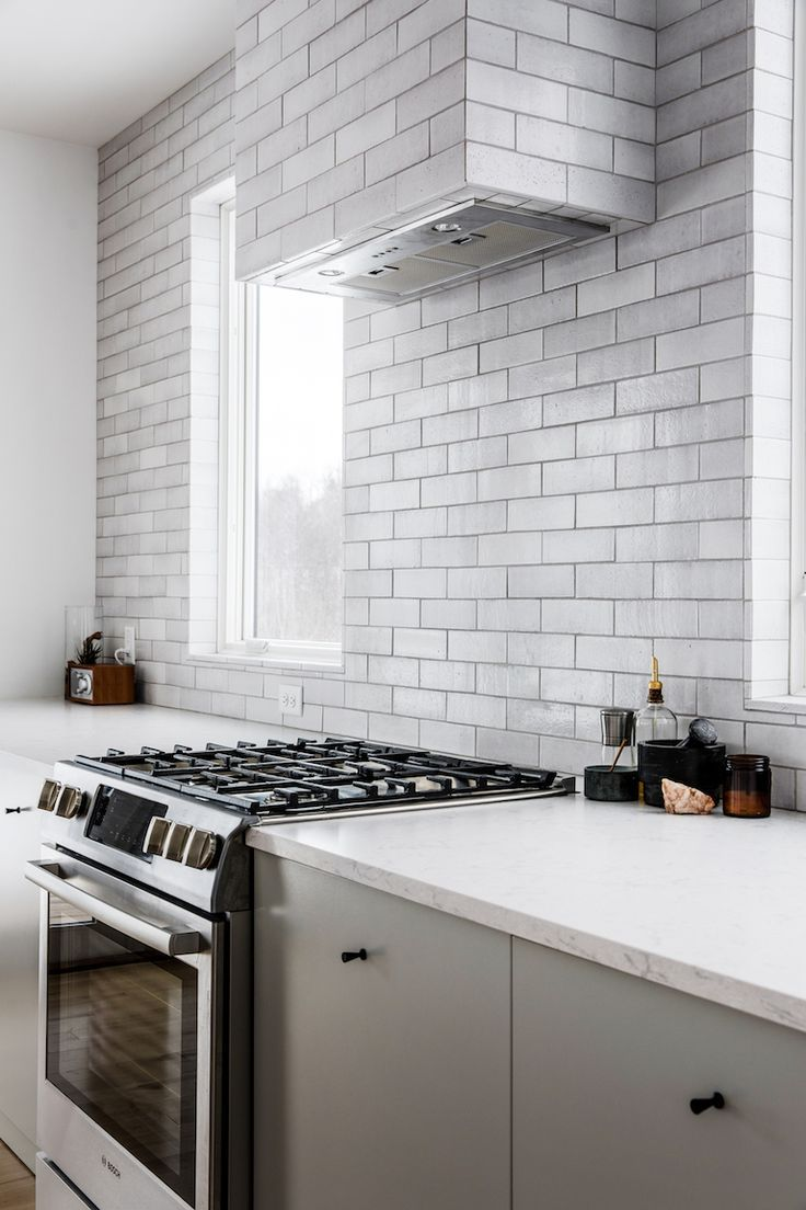 - Brick Kitchen Backsplash ' An Unusual Cladding Of The Hob