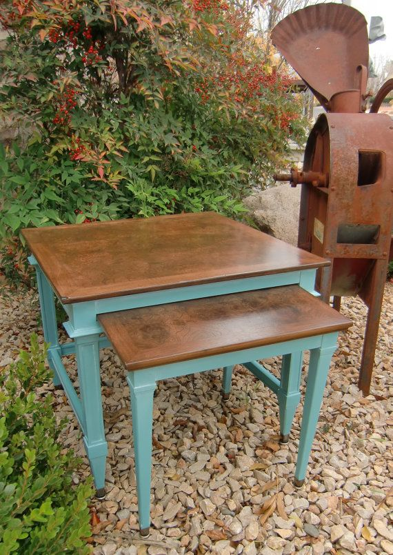 Hey, I found this really awesome Etsy listing at https://www.etsy.com/listing/215462976/vintage-nested-tables-set-in-annie-sloan