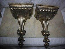антикварное золотое покрытие архитектурных настенные полки бра сочетается комплект тяжелый bracketed