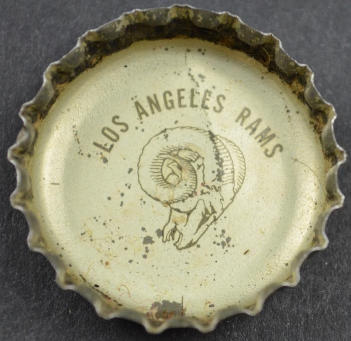 Coca Cola King Size NFL Team Bottle Cap - Los Angeles Rams
