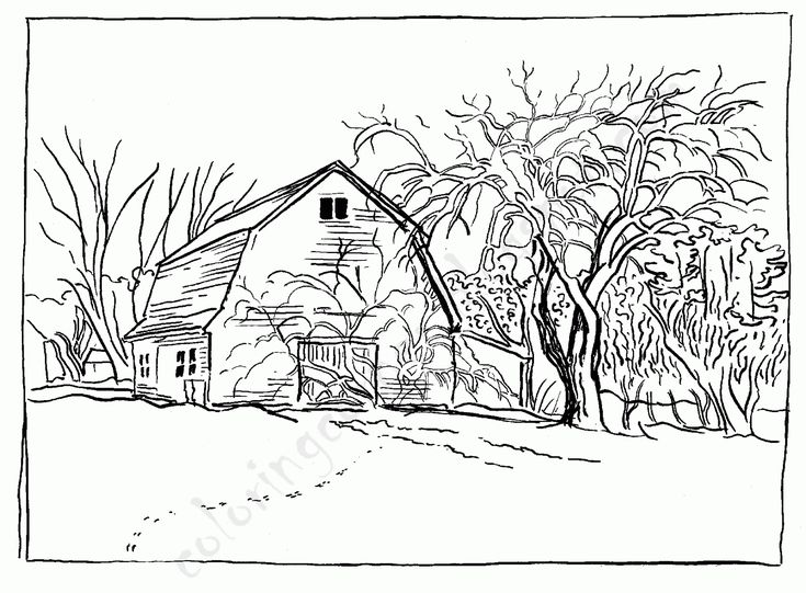 Big Red Barn Coloring Pages Barn Animals Colouring Pages