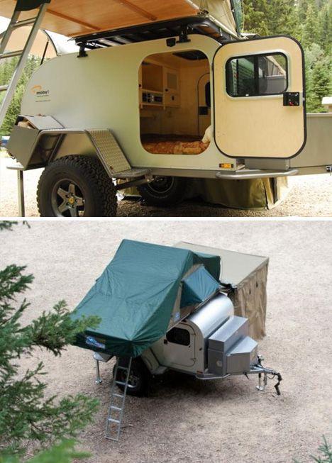 old teardrop trailers | Tough All-Terrain Teardrop Trailer Goes Off-Grid, Packs Rooftop Tent ...