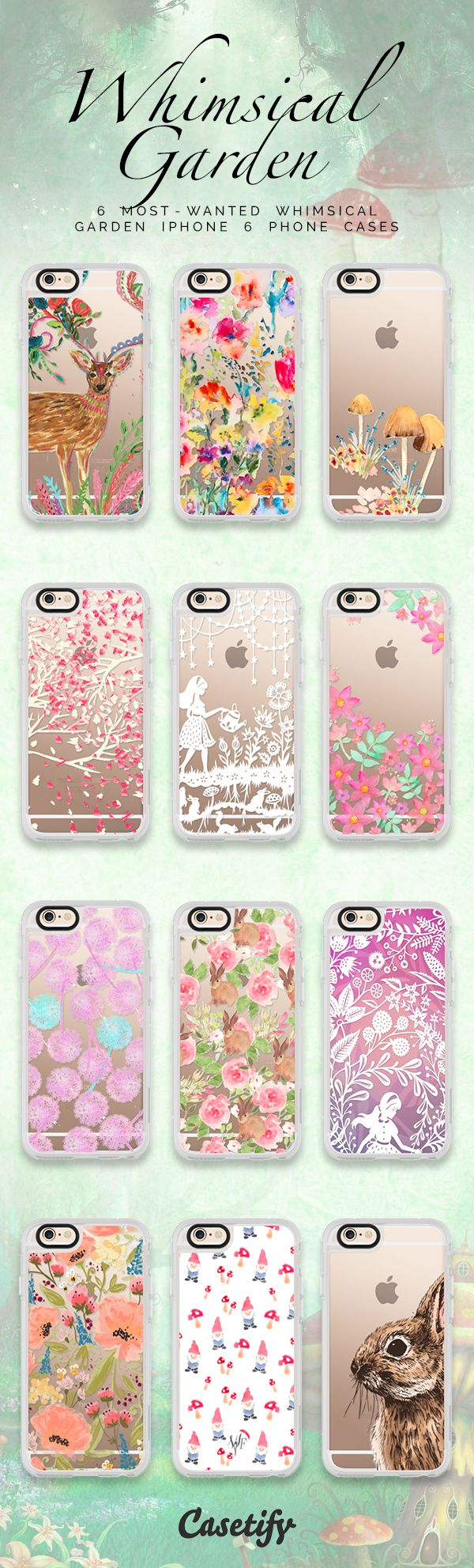 Top 12 #whimsical #garden iPhone 6S phone cases | Click through to shop >>> https://www.casetify.com/artworks/9O7TiwrWoD #phonecase #protective #floral #floralprint | @casetify