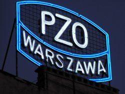 Odnowiony neon PZO WARSZAWA