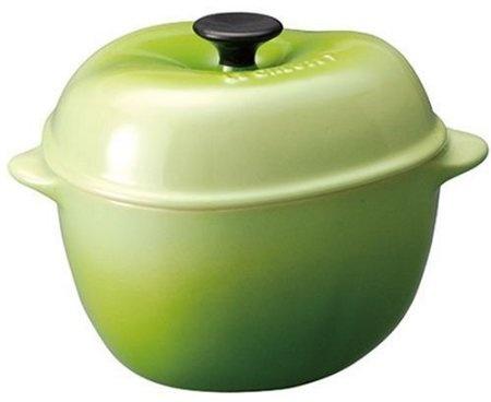 Amazon.com: Le Creuset Stoneware 12-Ounce Petite Apple Casserole, Kiwi: Kitchen & Dining