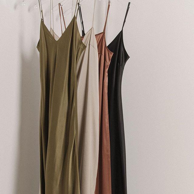 Strappy summer silks #silk #slipdress #summer #thedreslyn
