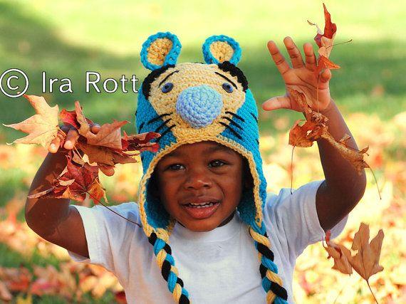 Handmade Crochet Safari Tiger Hat for kids, babies, teens and adults  www.irarott.com