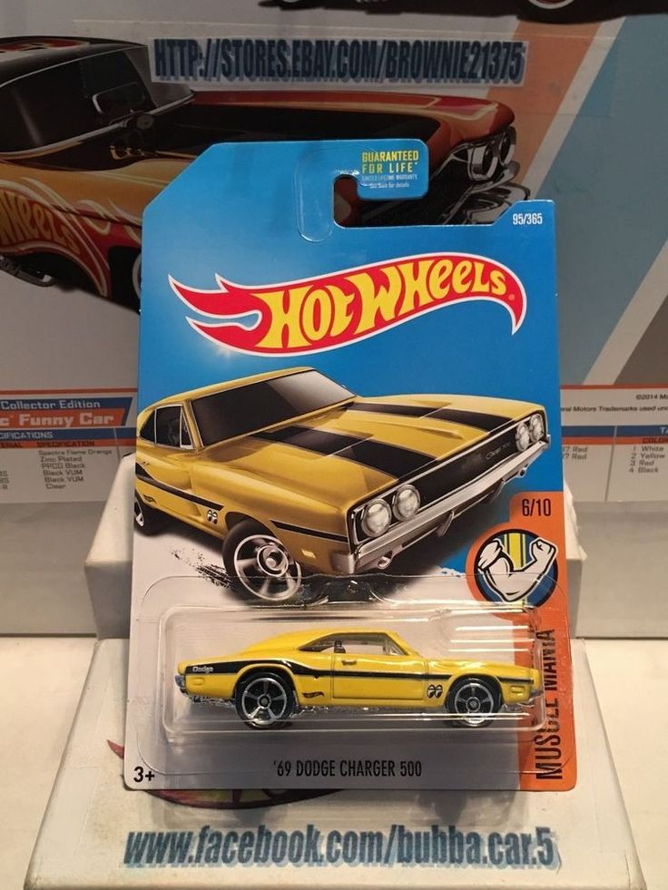 Hot Wheels Muscle Mania Series Mooneyes 69 Dodge Charger 500 YL 1/64th die cast #HotWheels #Dodge