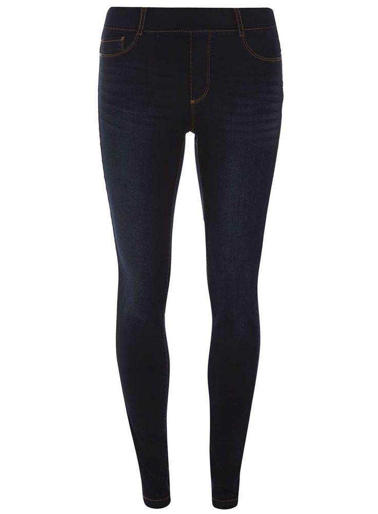 Womens Blue Black 'Eden' Ultra Soft jeggings- Blue