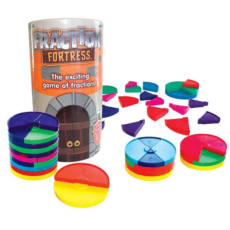 Junior Learning Fraction Fortress Game, Multicolor