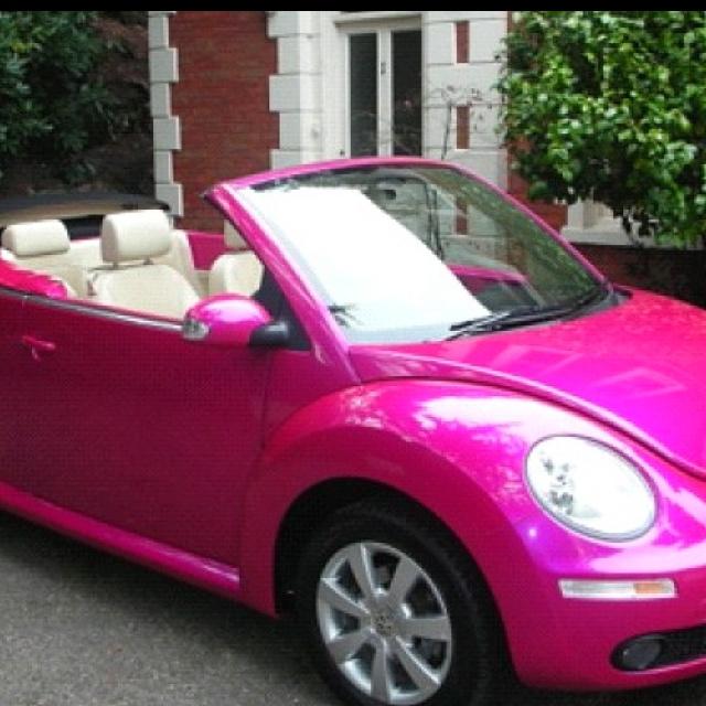 Hot Pink Bug Car For Sale