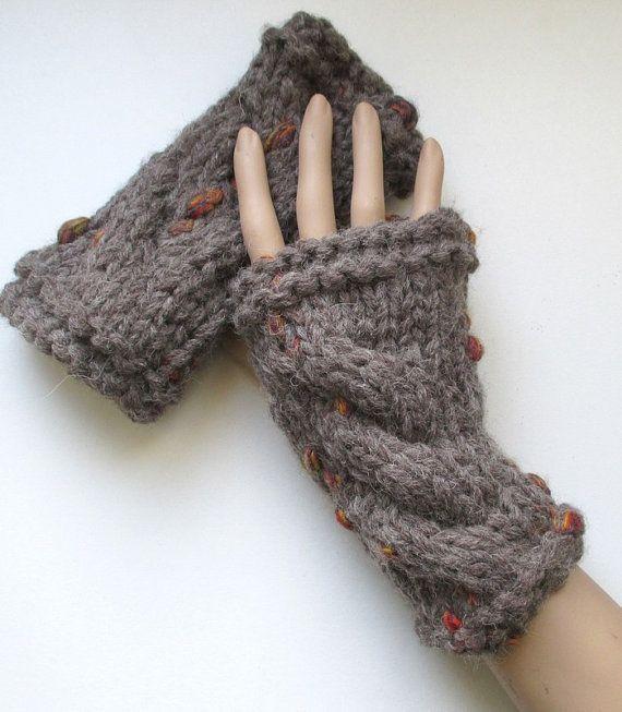 Kit à tricoter Mitaines à torsade par Sylviecambet sur Etsy
