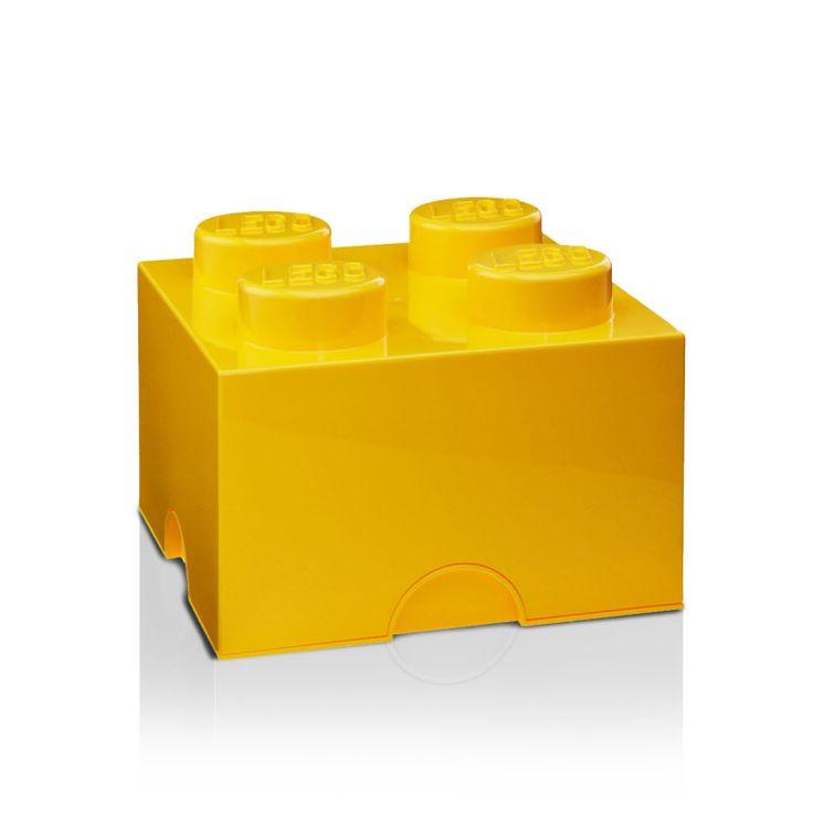 Lego+Oppbevaringsboks+4,+Gul,+Room+Copenhagen