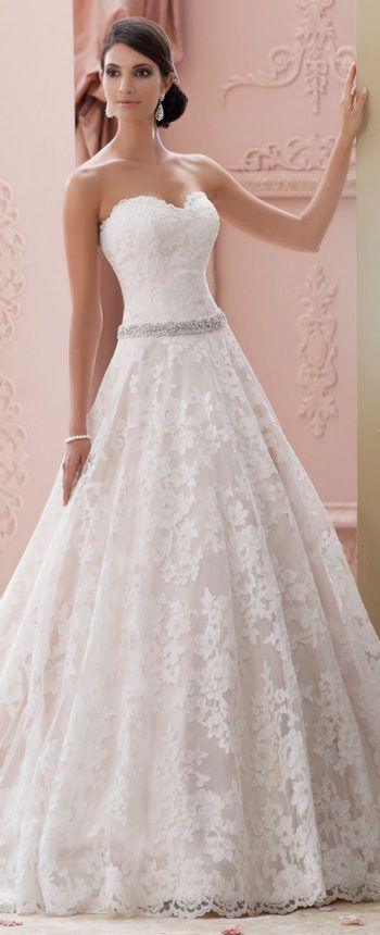 Featured Dress: David Tutera; Wedding dress idea