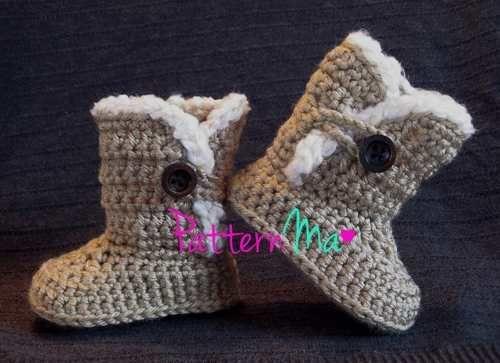 Botas para niña tejidas a crochet - Imagui