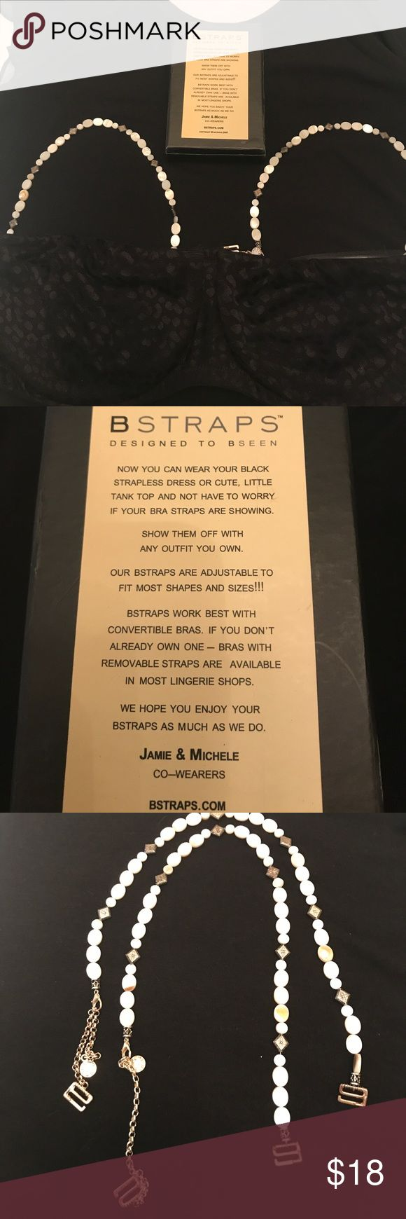 Show them off Bra straps from saks. New in box. Works with convertible bras. Show them off with any outfit Saks Fifth Avenue Intimates & Sleepwear Bras