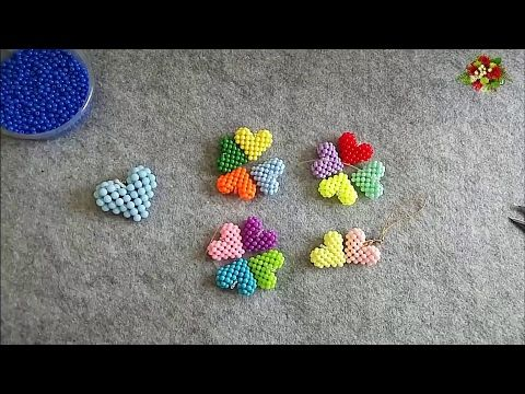How to bead funny acceceroy: heart-shaped(pattern 1) - YouTube