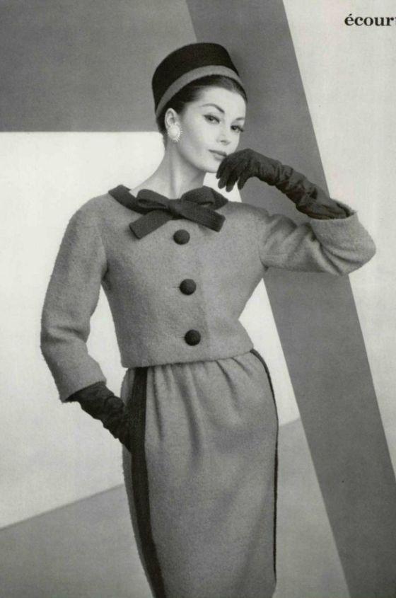 1959 - Yves Saint Laurent for Christian Dior suit