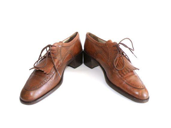 ¡Vendidos! - Zapatos Bally de cuero marrón envejecido de los por MeAndTheMajor, €24.00