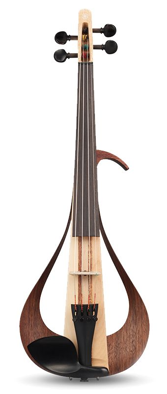 Yamaha YEV Electric Violin is a completely new look for electric violins! The stunning design is constructed out of many different woods for a more natural tone!