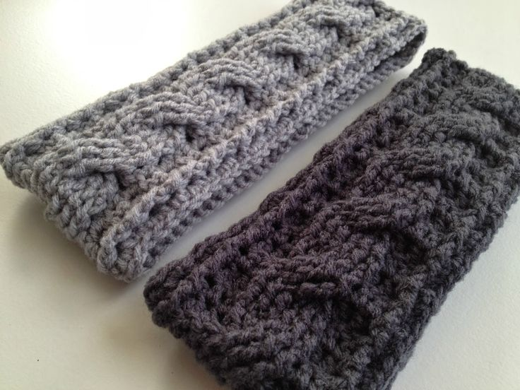 Free Crochet Pattern Headband Ear Warmer Button : FREE Pattern by With Love by Jenni: Crochet Cable Ear ...