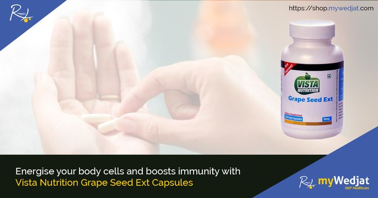 Vista Nutritions Grape Seed supports cancer prevention agent action in the body to shield tissues from free-radical harm.  #AntiOxidant #VistaNutrition #Capsules