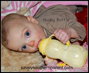 Nuby Non-drip transitional Bottle to sippy