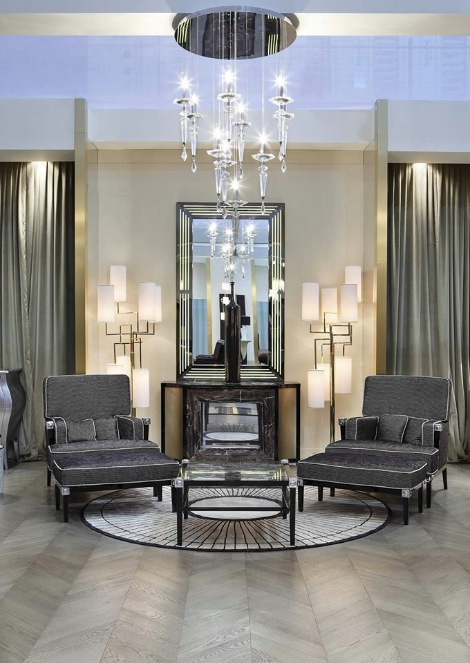 Our Incomparable Chandelier in a beautiful location!     www.isaaclight.com  /  #lighting #lobby #luxury #project #interiordesign