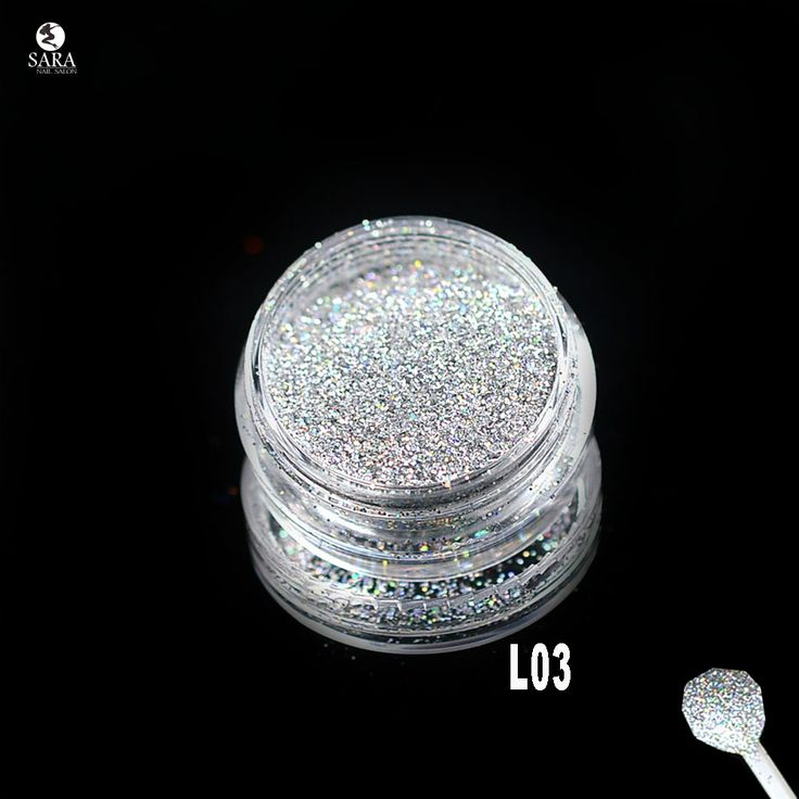Sara Nail Salon 1x3g Jar Holographic Laser Silver Color Glitter Dust Powder Nails Art Tips Body Crafts Decoration L03