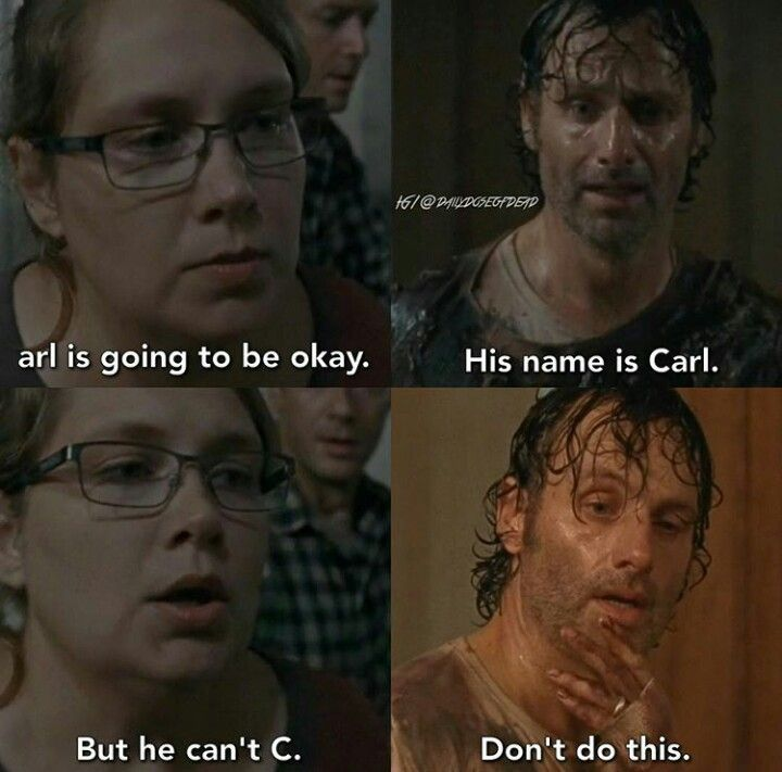 Lol! I'm so sorry doe Carl he only has ons eye left... But this makes me laugh