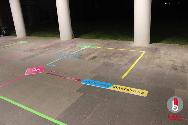 signs, floor, design, follow, startup, unconventional