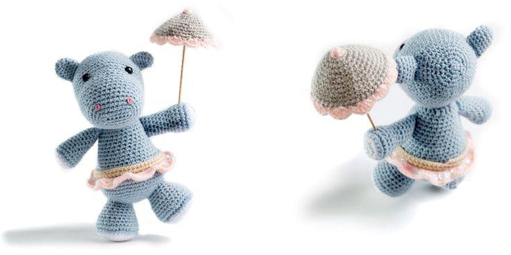 Tuto crochet: faire un amigurumi hippopotame